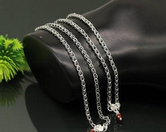 10.5 Solid silver handmade beaded ankle bracelet fabulous modern stylish foot bracelet customized bridesmaid charm jewelry nank188