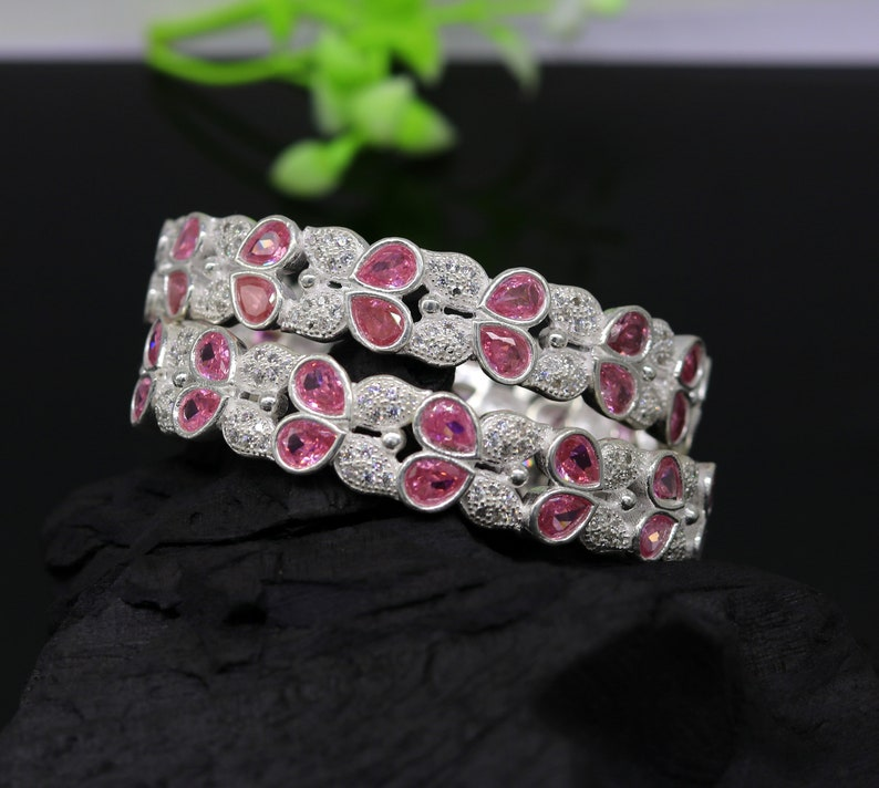 gorgeous multicolor stone stone stylish bangle excellent bridesmaid tribal jewelry nba77 925 sterling silver handmade Customized bangle