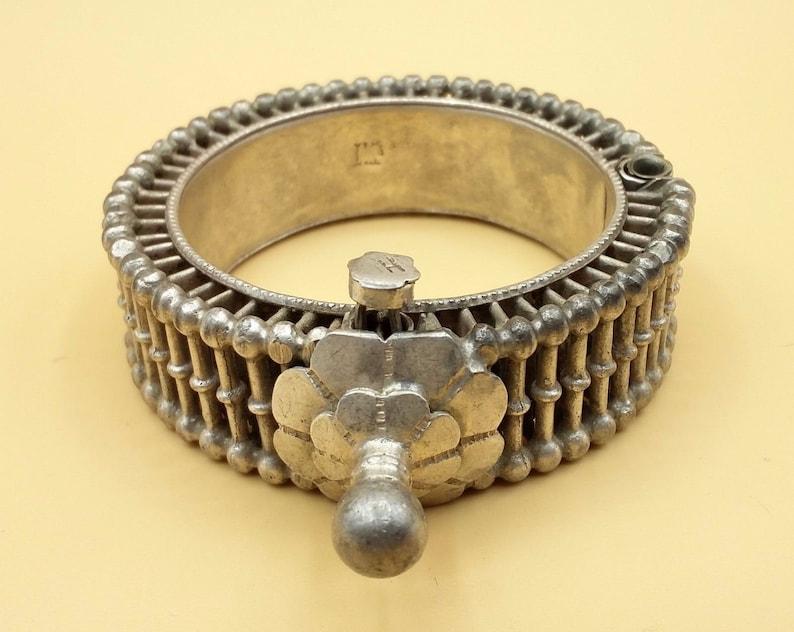 Vintage handmade original antique silver cuff bracelet fabulous design tribal women/'s ethnic jewelry  from rajasthan india cb03