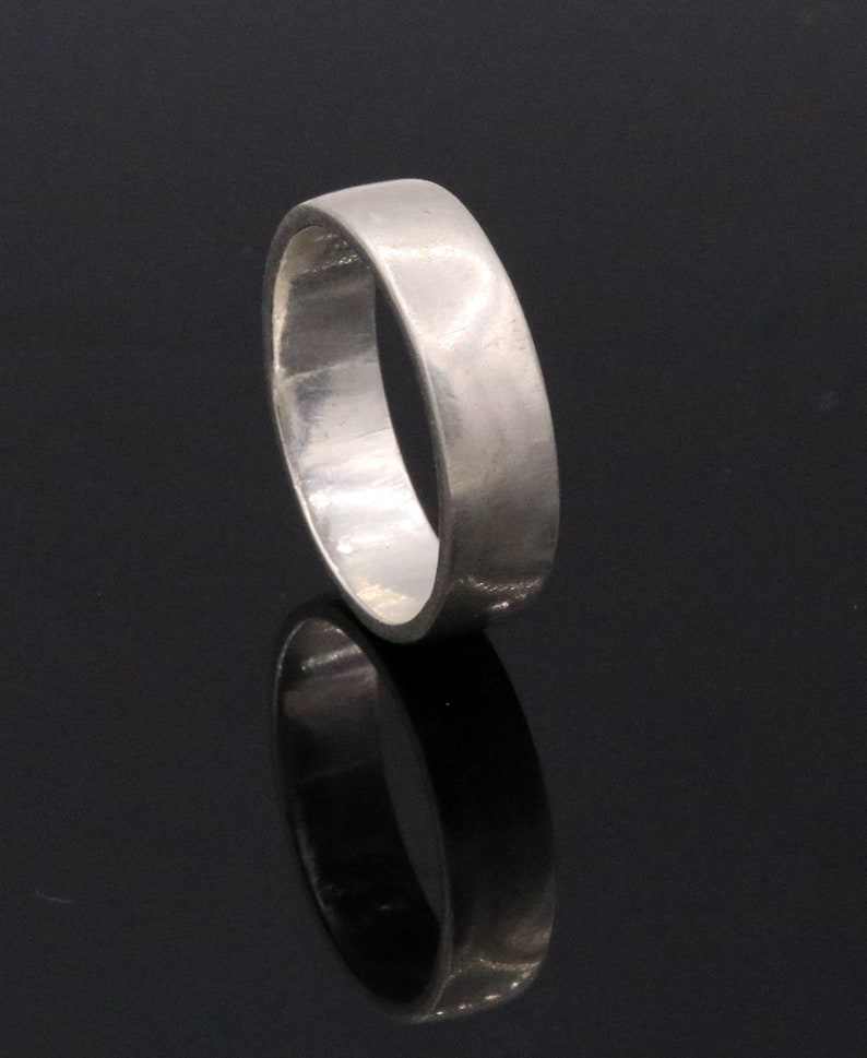 925 solid sterling silver plain Ring band fabulous unisex engagement wedding gifting jewelry form rajasthan India sr50