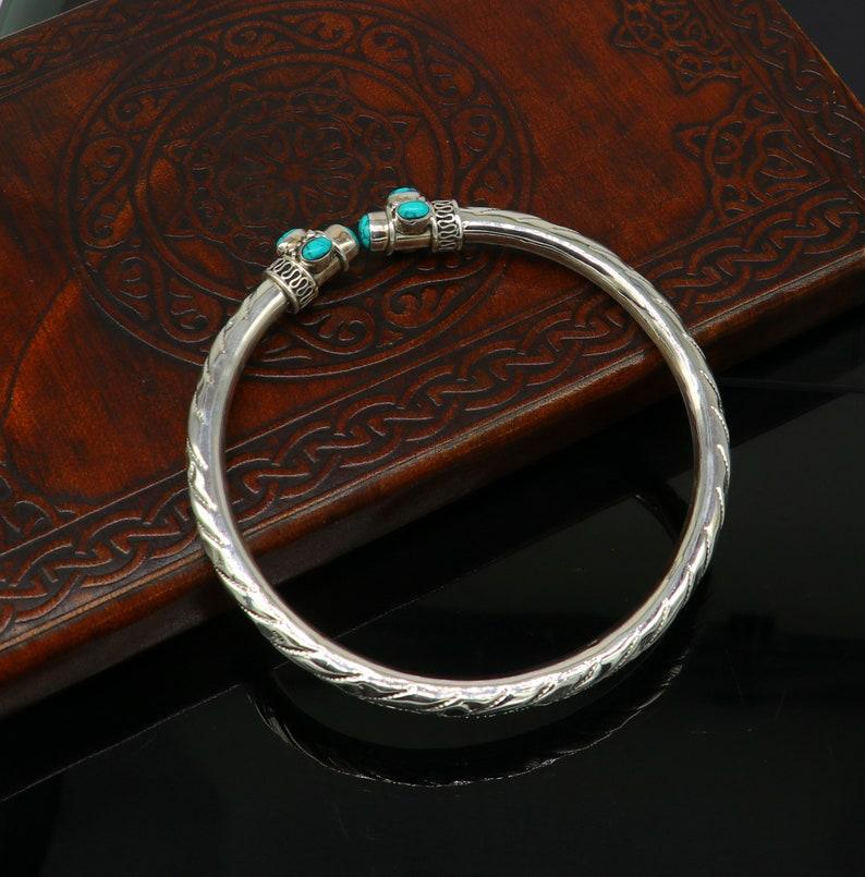 amazing brides made wedding gifting anklets sak15 Stylish customized design Ankle kada ankle bangle bracelet with gorgeous turquoise stone