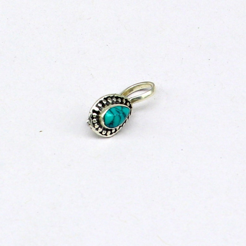 pure silver clip on nose pin without piercing nose stud 925 Sterling silver blue turquoise nose pin party wear nose pin jewelry np127