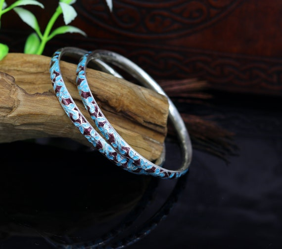 Sterling Silver 925 ring with traditional meenakari work