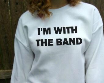 Band shirt, Band Sweatshirt, tumblr Sweatshirt, Tour Pullover, Crewneck White Sweater Crew Neck.