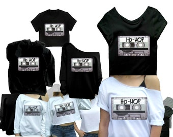 f530cb8a9 90s hip hop shirt, Mixtape, Crop top, 90s tshirt, Old school shirt, Cute  shirt, cute graphic tee, Graphic tee shirt, black gray or white.
