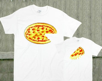8f0775035 Pizza and slice Father son shirts matching t-shirts fathers day gift dad  and son t shirts daddy and me shirts T-shirt or bodysuit Mom too!