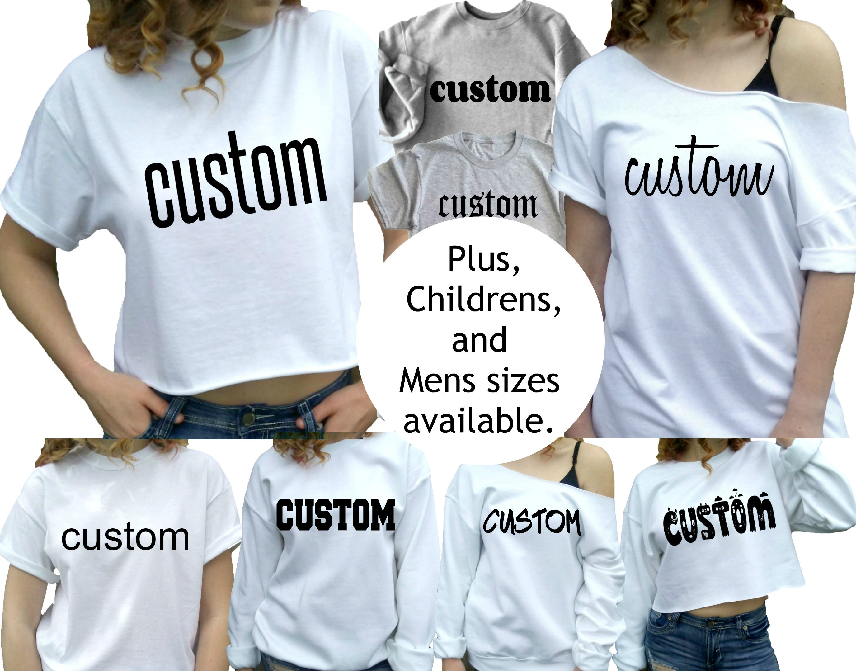 Custom Shirts For Women Men Picture Customizable Choose Your Etsy