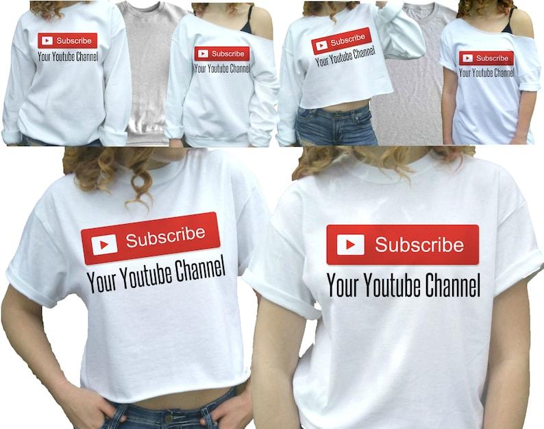 caec91ee032d YouTuber shirt YouTube Shirt Custom YouTube T-shirt