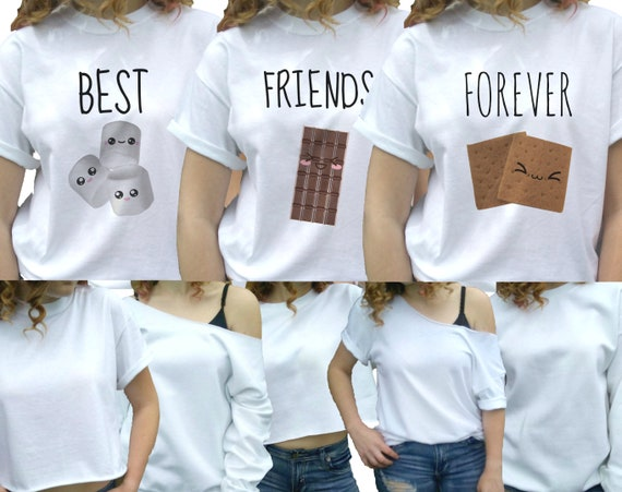 3 Best Friends Shirts Best Friends Forever 3 Best Friends Etsy