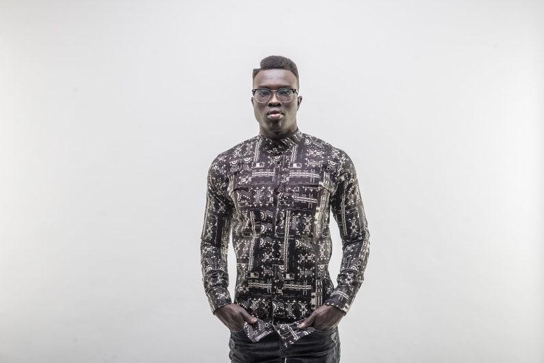 Dashiki Men-African shirt men Mens African Shirt Ankara Shirt Woodine fabric Emperor II B African clothing for women