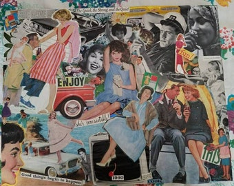 Collage Art from a 1960 LIFE Magazine