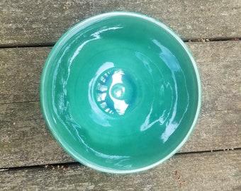 Handmade ceramic swirl bowl - oribe
