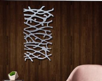 Metal Wall Art   Wall Art Sculpture   Wall Hanging   Home And Decor Art    Wall Art Metal Modern Abstract Hanging Home Decor Sculpture Piece
