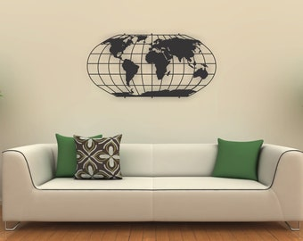 Metal world map etsy quick view metal wall art world map metal gumiabroncs Image collections