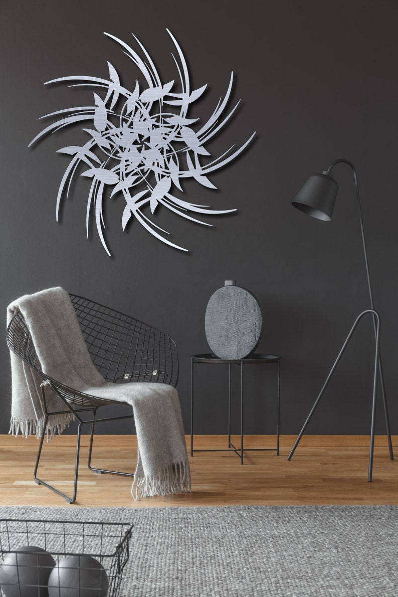 Contemporary metal wall art modern metal art wall hanging perfect housewarming gift home decor indoor and outdoor art leaf metal art