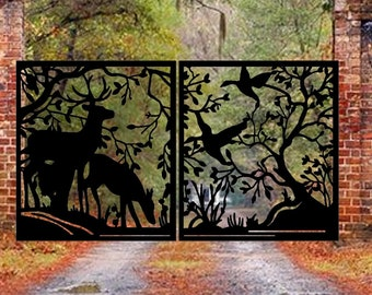 Metal Garden Driveway Gate   Custom Entry Metal Gates   Modern Gate