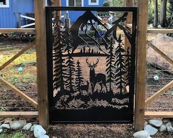 Shop Pedestrian Garden Gate   Railings, Privacy Screen, Garden Stakes Wildlife Metal Art