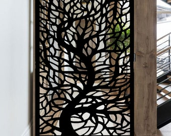 Entry Gate  Garden Metal Gate  Decorative Pedestrian GateDecorative Laser Cut Privacy Metal Screen Panel   Privacy Screen with Tree Branches