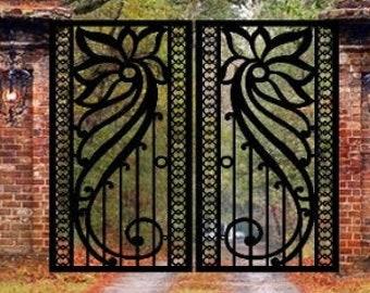 Pedestrian Walk Thru Metal Entry Gate    Metal Fence Gates