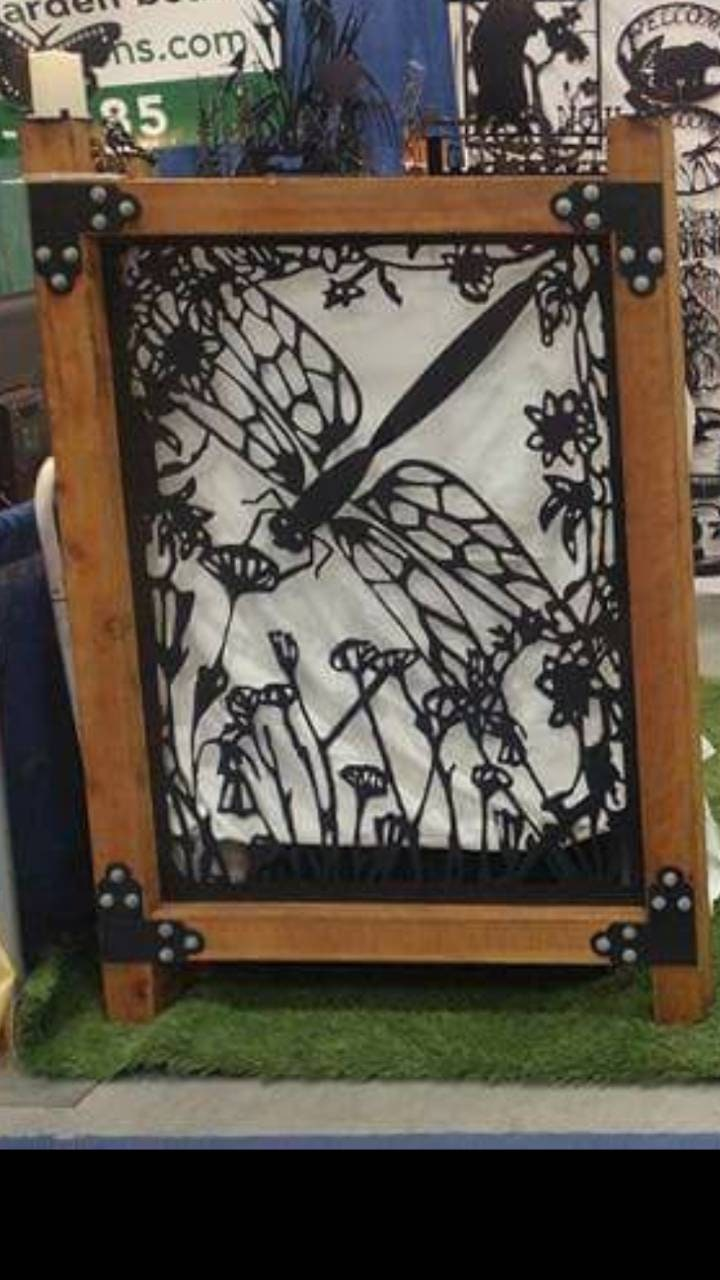 Metal door (gates) made with wood frame Made from GA 10 steel painted with marine black paint. 3'x3' but you can order panel only any size, used for sale
