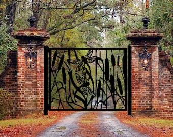 Entrance Metal Gate    Metal Decorative Gate   Decorative Metal Steel Entry Gates