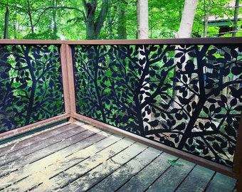 Decorative Metal Fence Panels    Wrought Iron Fences 5'x3'
