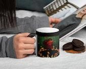 Fairy Ring Violinist - Magic Forest Matte Black Magic Mug Christmas Gift for Her