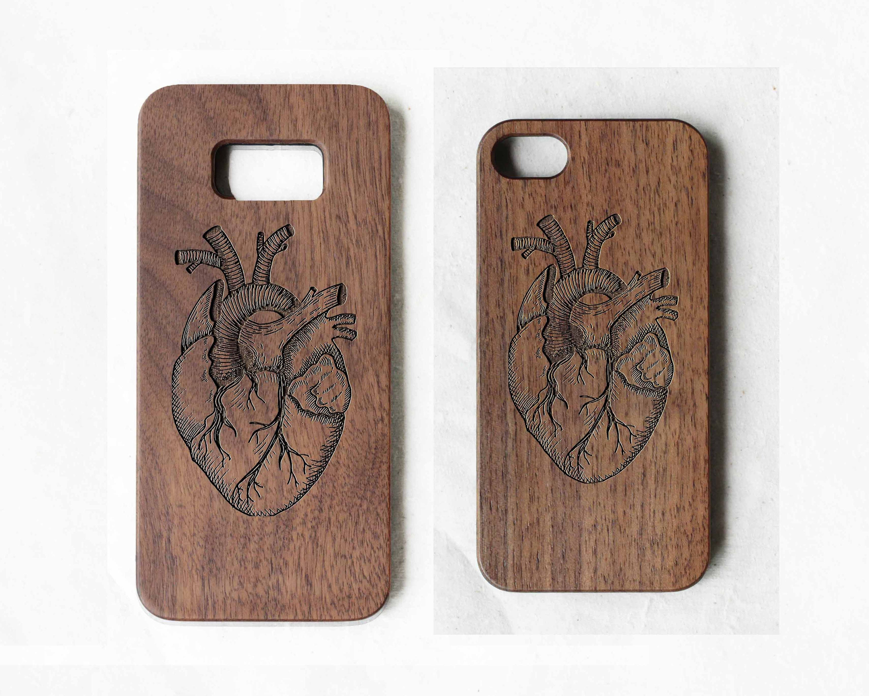 meet 23723 e299f Human heart wood Samsung galaxy S7 case, wood phone case for Samsung Galaxy  S4, S5, S6, S7, S7 edge, S8, S8 plus,S9, S9 plus,