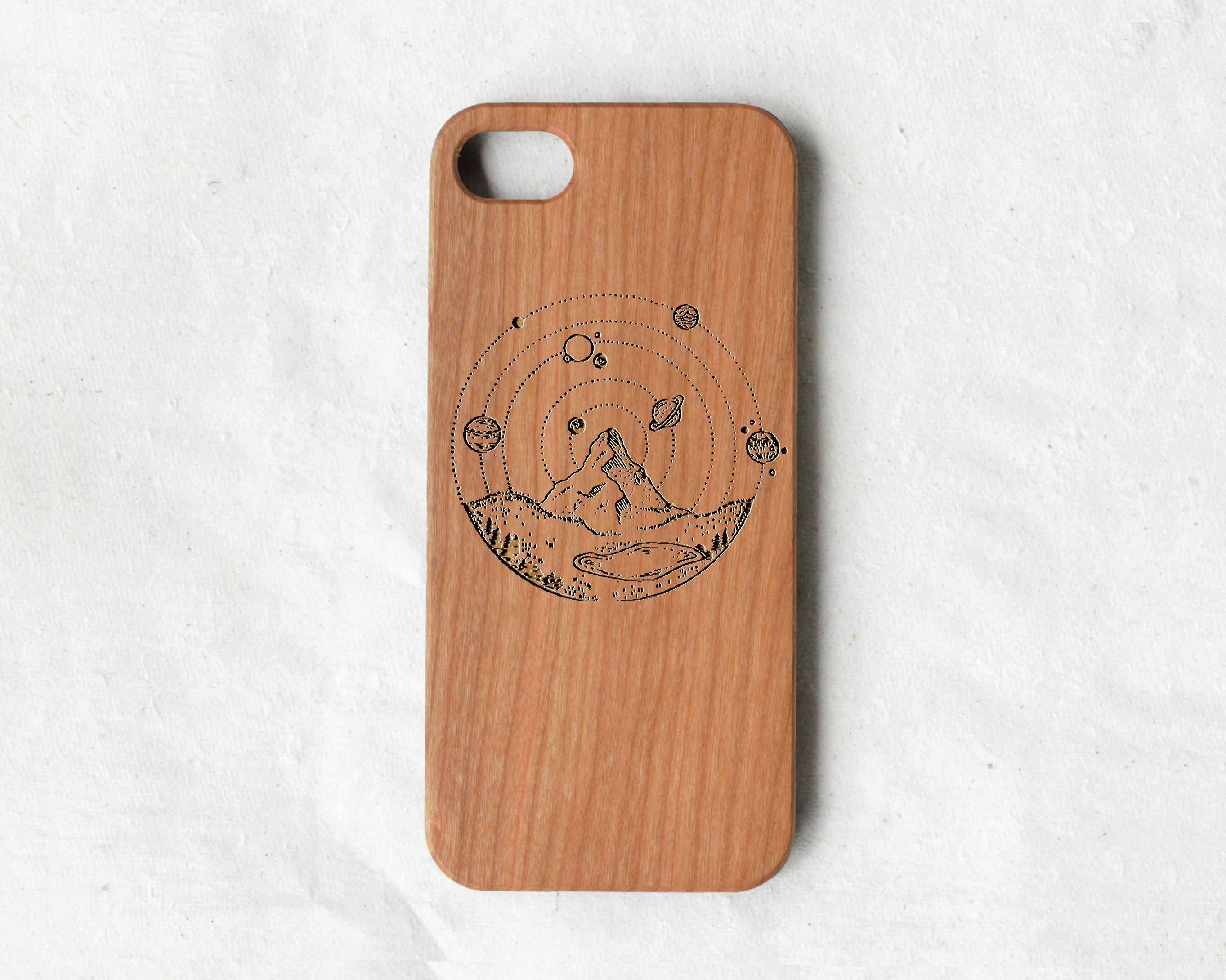huge discount d2fe2 aa3e1 Outdoor style mandala wood iPhone 8 case,wooden iPhone 8 cover wood phone  case for iPhone 5s/se//6s/6s plus/7/7 plus/8/8 plus/x/xr/xs/xs max