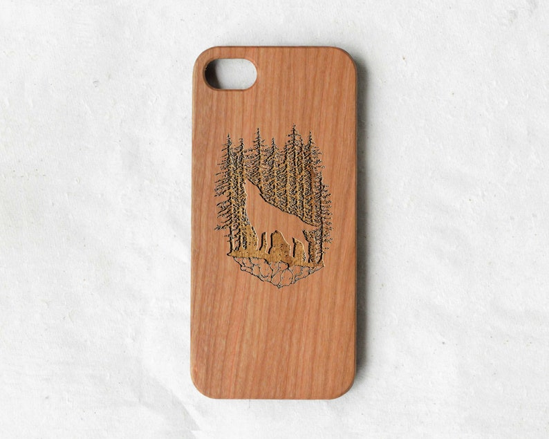 best authentic 27684 fe055 Timberwolf forest wolf wood iPhone 8 case,wooden iPhone 8 cover, wood phone  case for iPhone 5s/6s/6s plus/7/7 plus/8/8 plus/x/xr/xs/xs max