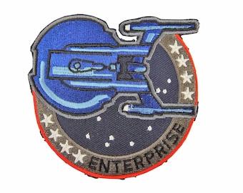 Star Trek USS Enterprise NCC 1701 Logo Patch 3 1//2 inches wide