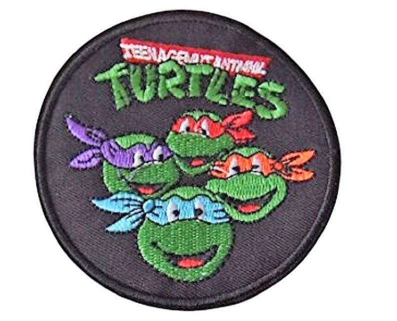 Teenage Mutant Ninja Turtles Heads Embroidered 4