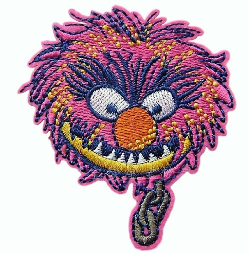 "Sesame Street Elmo Face 2 1//2/"" Wide Embroidered Iron On Patch Set of 3 Patches"