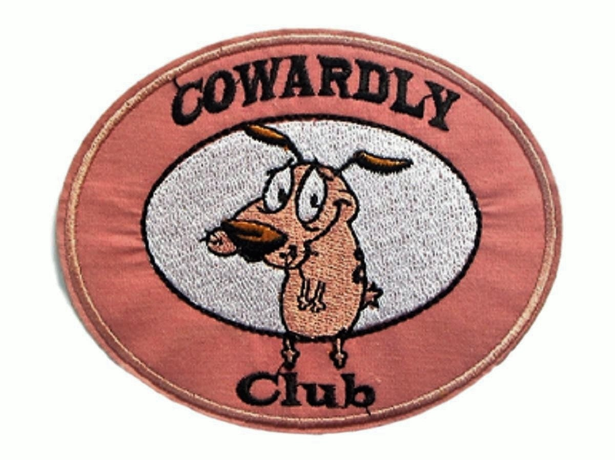 """Courage the Cowardly Dog 3/"""" Tall Embroidered Iron on PATCH"""
