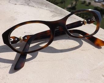 7e351e8a9c5 Trinity De Cartier Lunettes Alice T8101000 Tartoise Frame Genuine Used