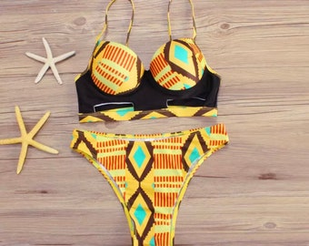 African Kente Bikini- Pre Order! Tribal Wear