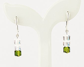 25 BICONES 4 mm Crystal green reflection N41