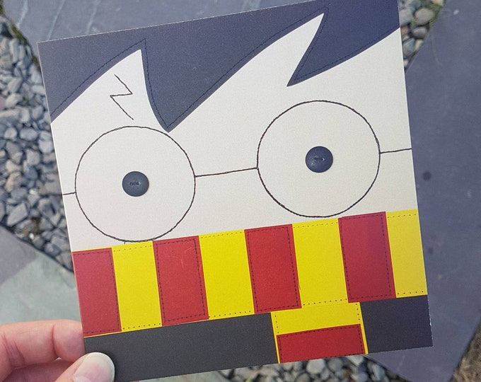"Harry Potter Greeting Card with Kraft Envelope (6"" square) - BIRTHDAY/ ANY OCCASION"