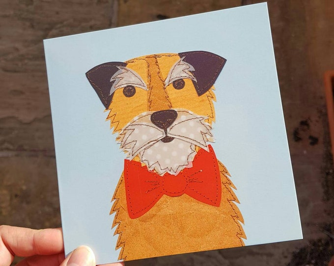 Jack Russell Dog Greeting Card • Printed from Original artwork • 6 inch square with brown kraft envelope • Birthday • New Pet