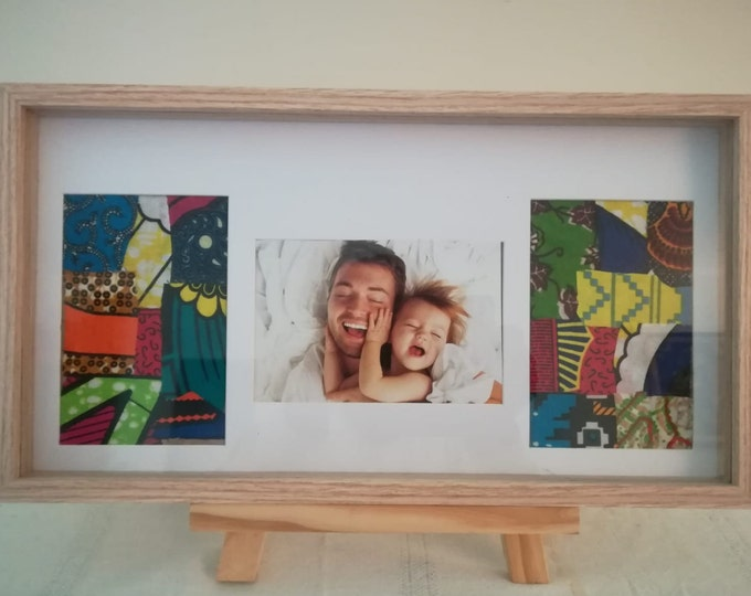Decorative patchwork ankara wax 1 photo frame