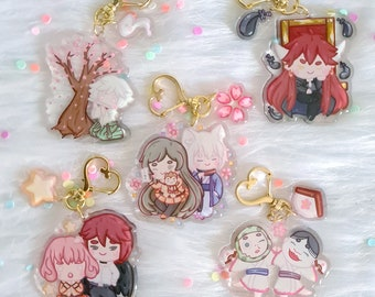 Kamisama Hajimemashita Glitter Charms | Kawaii Stickers | Kamisama Kiss Keychains | Anime Keychains | Adorable Charms