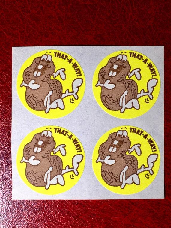 Rainbow Vintage 80s Matte Trend Scratch /& Sniff Sticker Mint!!