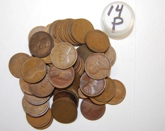 Old Lincoln Wheat Cent Pennies 1956-D Mint  Vintage antique
