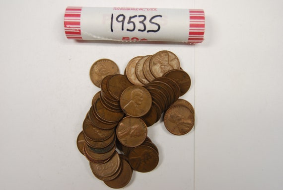 LINCOLN WHEAT ROLL 1946-P LOT OF 50 Coins