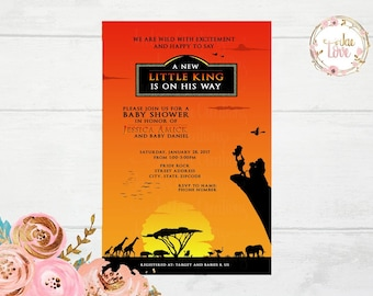 Lion king baby shower etsy lion king baby shower invitation filmwisefo