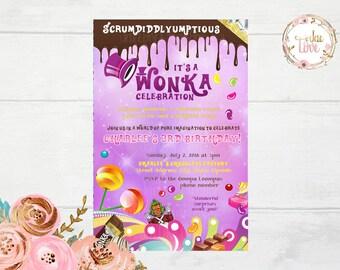 Willy Wonka Invitation