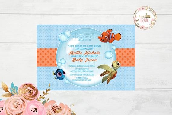Finding nemo baby shower invitation etsy image 0 filmwisefo