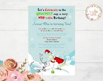 Grinch, Christmas Invitation