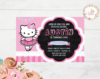 Hello Kitty Ballerina Invitation