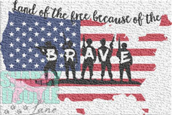 Land Of The Free Svg Cut File For Cricut And Silhouette 4th Of Etsy